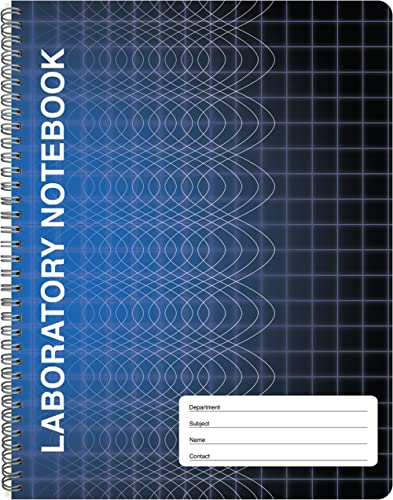 """BookFactory Computation Lab Notebook - 100 Pages (9 1/4"""" X 11 3/4"""") - Scientific Grid Pages, Durable Translucent Cove..."""