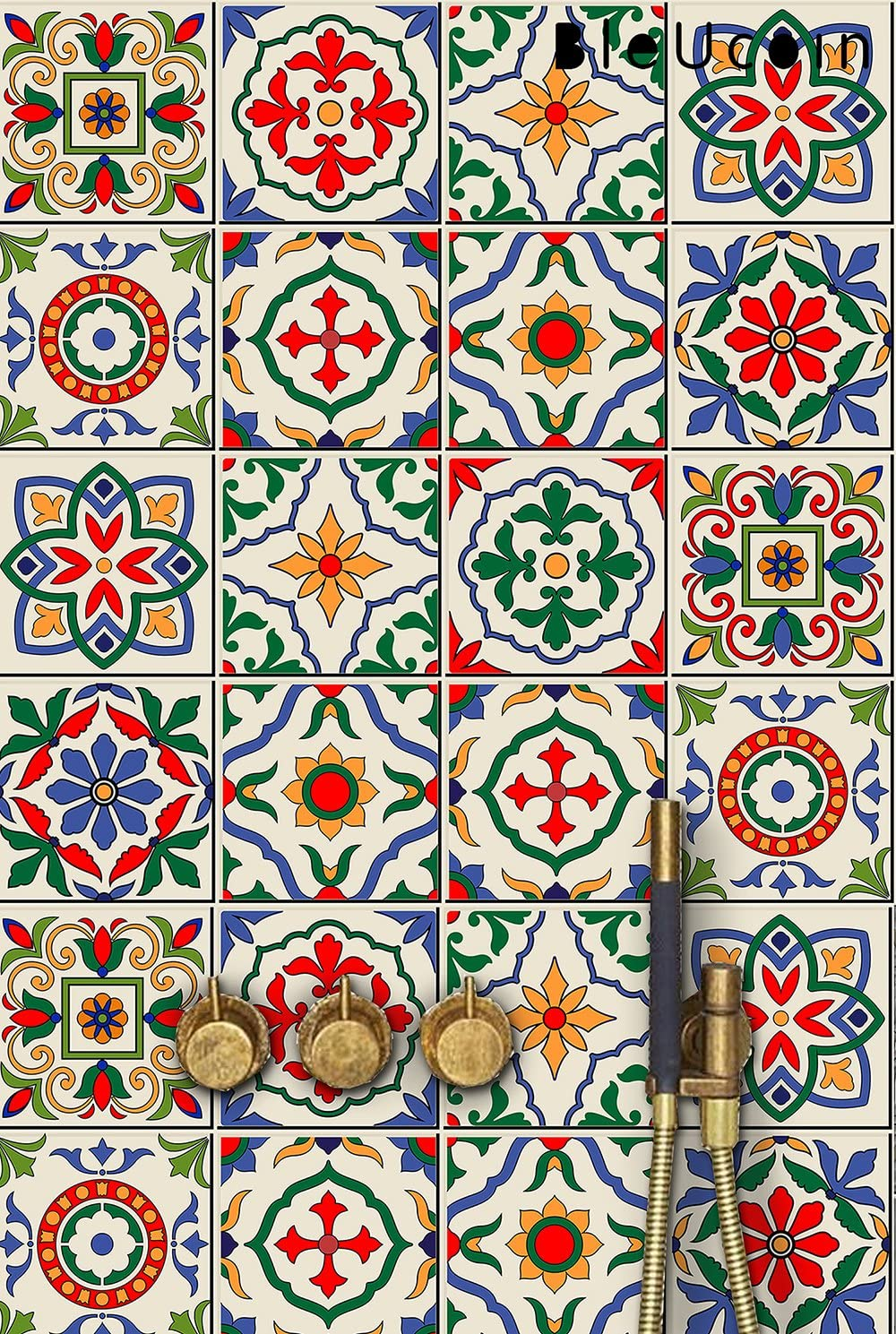 開店記念セール 業界No.1 Santorini Tile Stickers in 11 Designs Tiles Bathroom Kitchen for