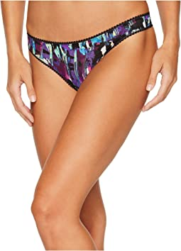 OnGossamer - Triple Twist Mesh Print Hip G Thong