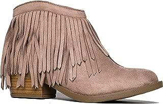J. Adams Fringe Ankle Boot- Western Cowboy Bootie