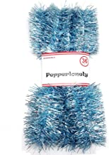 PEPPERLONELY 36 FT Christmas Tinsel Garland Classic Christmas Decorations, Light Blue