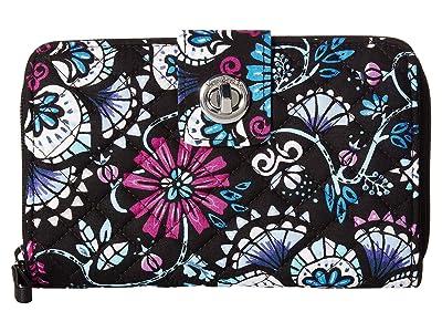 Vera Bradley Iconic RFID Turnlock Wallet (Bramble) Wallet Handbags