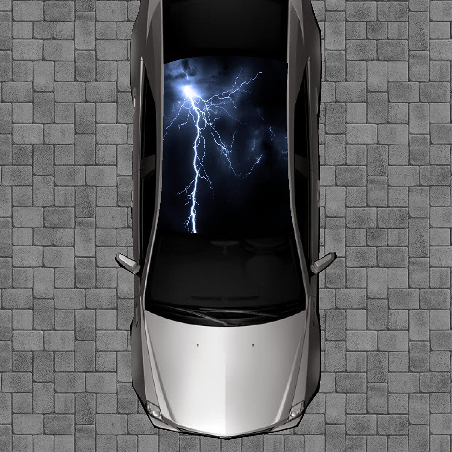 Sign Factory R99 Ranking TOP3 Lightning Roof Wrap Decal Vinyl - 5% OFF Wraps Decals