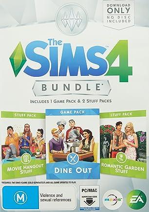 THE SIMS 4 BUNDLE PACK (Dine Out, Movie Hangout Stuff, Romantic Garden Stuff)