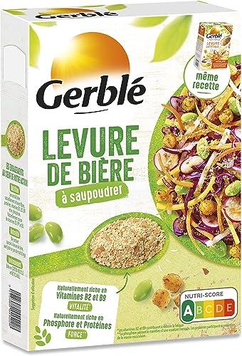 Gerblé Saupoudrage, Levure diététique à saupoudrer, Super-aliment, Source naturelle de protéines, Riche en Vitamine B...
