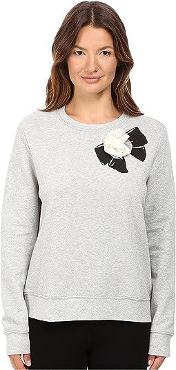 Rosette Bow Sweatshirt