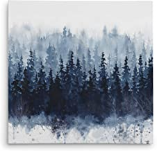 WEXFORD HOME Indigo Forest Gallery Wrapped Canvas Wall Art, 32x32