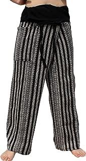 RaanPahMuang 加厚机织棉泰国渔夫缠绕裤