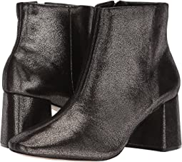 Cracked Block Heel Bootie