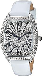 Christian Van Sant Women's Elegant Stainless Steel Analog Quartz Leather Strap, White, 14 Casual Watch (Model: CV4821W)