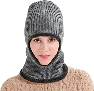 Runtlly Windproof Ski Face Mask Winter Hats Warm Knitted Balaclava Beanie Hat