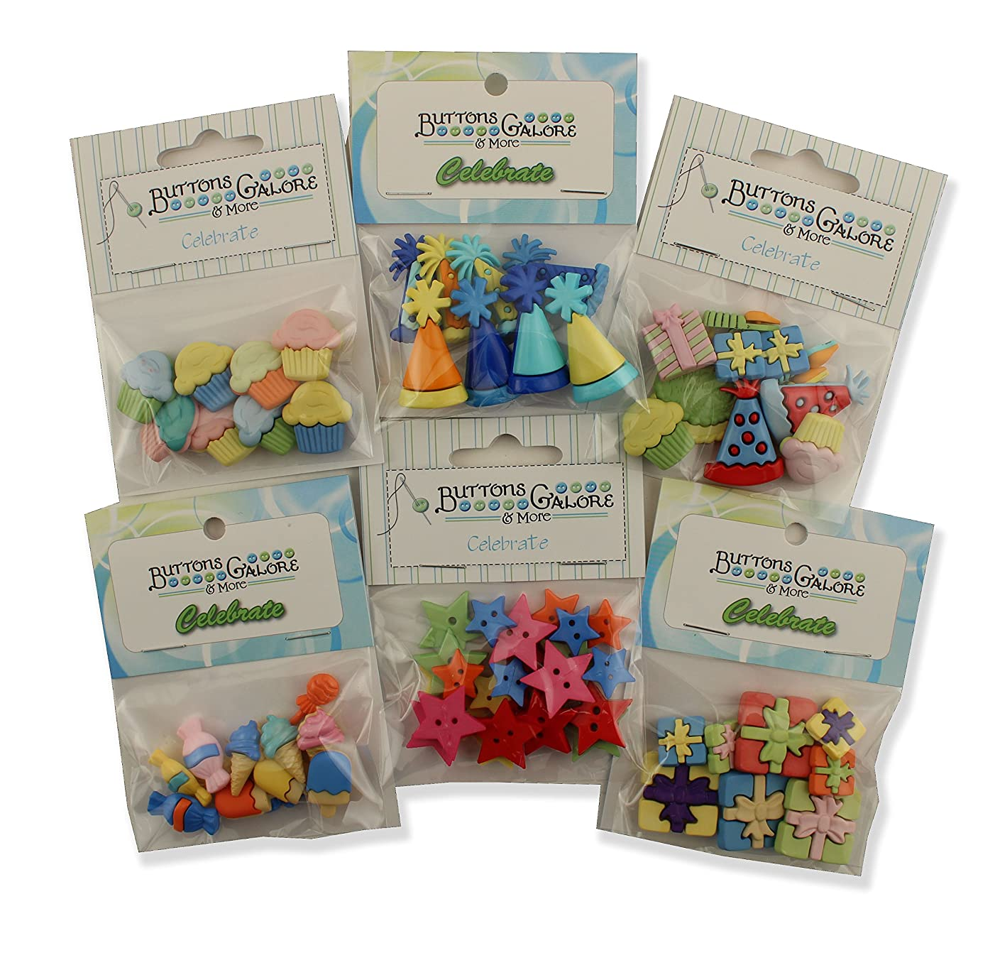 Buttons Galore CELEGRP1 FA121 Needle Arts, Multicolor