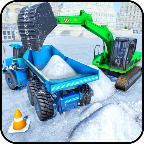 excavadora nieve arado: ciudad nieve soplador camión juegos
