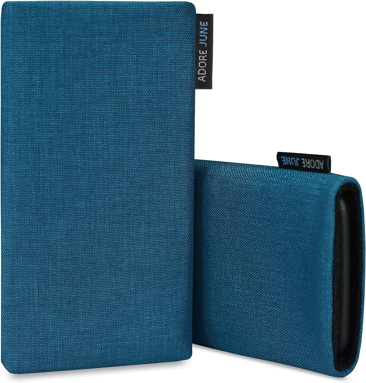 Pochette /Établie R/ésistant Textile avec Affichage Nettoyage Effet Adore June Classic Noir Housse de Protection Compatible avec iPhone 12 Pro Max