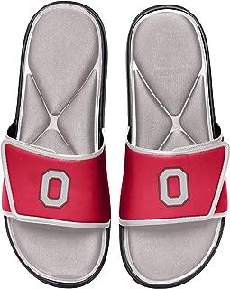 NCAA Ohio State Buckeyes Mens Deluxe Foam Sport Shower Slide Flip Flop SandalsDeluxe Foam Sport Shower Slide Flip Flop Sandals, Team Color, Medium/Mens Size 9-10