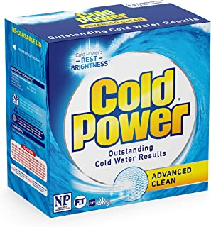 Cold Power Advanced Clean, Powder Laundry Detergent, 2kg, Suitable for Front and Top Loaders