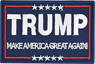 Tactical Morale Patch Trump Make America Great Again Patch Embroidered Hook Loop Fastener Backing Emblem Navy Blue