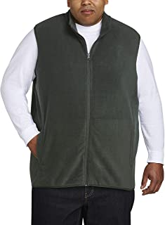 Amazon Essentials Men's Big & Tall Full-Zip Polar Fleece Vest fit by DXL