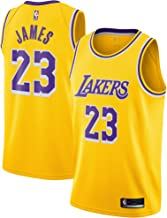 OuterStuff Lebron James Los Angeles Lakers #23 Yellow Youth Icon Edition Swingman Jersey