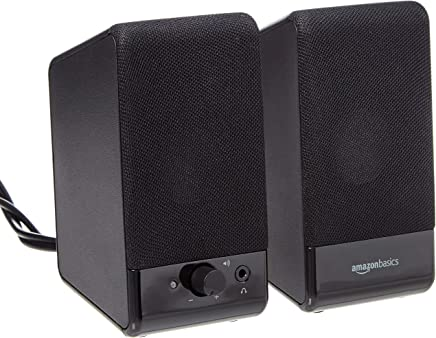AmazonBasics Computer Speakers for Desktop or Laptop | USB-Powered