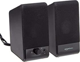 AmazonBasics Computer Speakers for Desktop or Laptop PC | USB-Powered