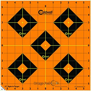 Caldwell Orange Peel Sight In Targets with Flake Off Material, Strong Adhesive and Multiple Sizes for Outdoor, Range, Shooting and Hunting