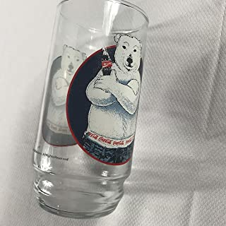 Coca Cola Glass Cup Vintage 1997 Polar Bear Coke Drink 90s Funny Jeans Arms Crossed