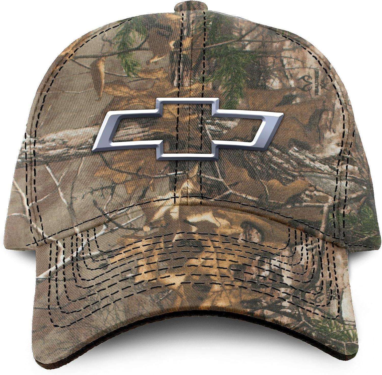 Buck Wear Chevy Bowtie Camo Hut Camouflage Einheitsgröße Bekleidung