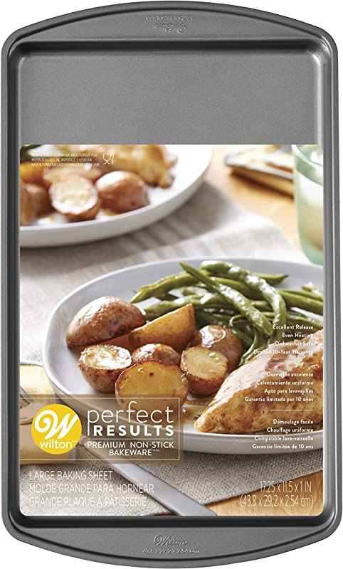 Wilton Perfect Results Premium Non Stick Bakeware Large Cookie Sheet 17 25 X 11 5 Inch