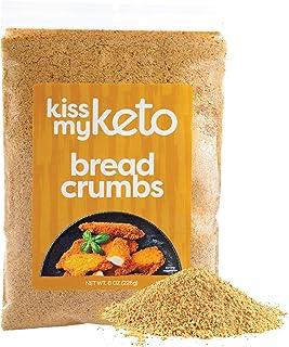 Kiss My Keto Bread Crumbs Zero Carb (0g Net) — Low Carb Keto Breadcrumbs | 6g Protein per Serving, Sugar Free | Low Calori...