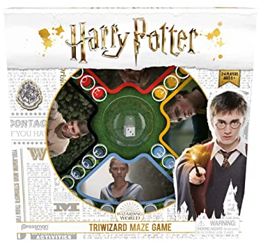 Pressman Harry Potter Triwizard Maze Game - Classic Pop 'N' Race Gameplay with A Magical Twist