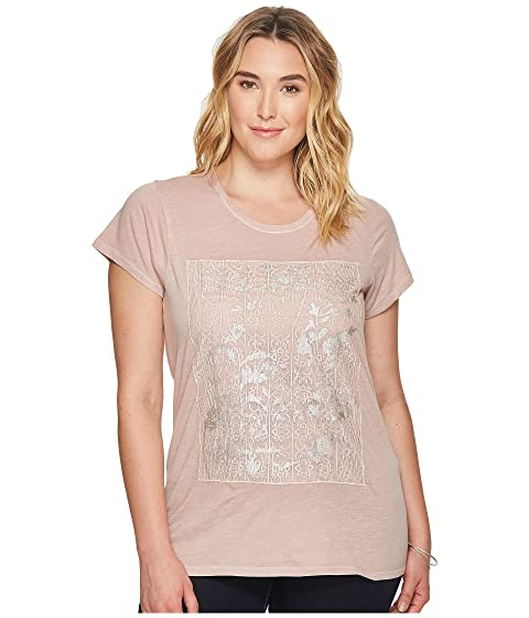 Lucky Brand Size Plus Printed Tee Lace O7Ovqwx6rn