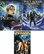 Fantasy Triple Pack Percy Jackson & The Olympians: The Lightning Thief + Dragon & The Pagemaster Movie DVD Feature Bundle