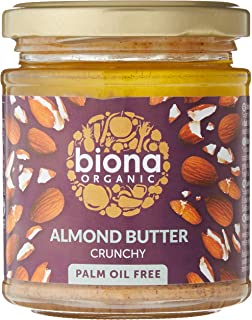 Biona Organic Almond Butter Crunchy, 170 g (Pack of 1)
