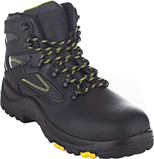 """EVER BOOTS """"Protector Men's Steel Toe Industrial Work Boots Safety Shoes Electrical Hazard Protection"""