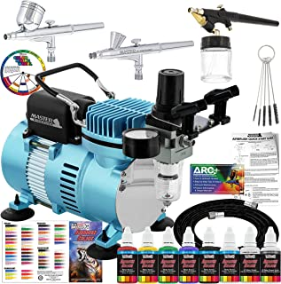 Master Airbrush Cool Runner II Dual Fan Air Compressor Professional Airbrushing System..