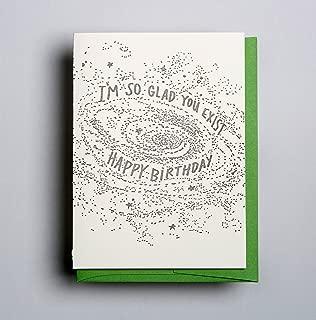 You Exist Birthday - Letterpress Birthday Card