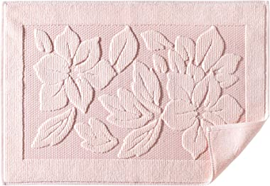 Bath Rug Bathroom Floor Mats - Washable Bathtub Shower Sink Floor Towels - 100% Turkish Cotton Bath Mat Foot Towels - Cream, Light Pink, Lighte Brown (1, Light Pink)
