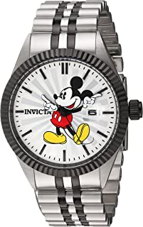 Men's Disney Limited Edition Quartz Watch with Stainless-Steel Strap, Two Tone, 8 (Model: 22773)