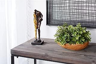 Metallic Human Figurines Embracing Sculpture with Base 4