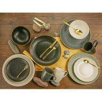 CreaTable SHINY Geschirrset Kombiservice 20 tlg Tafelservice Geschirr Porzellan