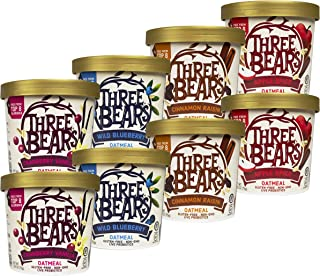 Three Bears Instant Oatmeal Cup, Variety Pack, 2.65 Ounce (Pack of 8)