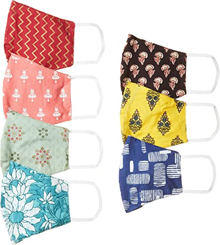 Women S Cotton Reusable Face Mask Pack Of 7 AYUMSK02 Multicolor Free Size