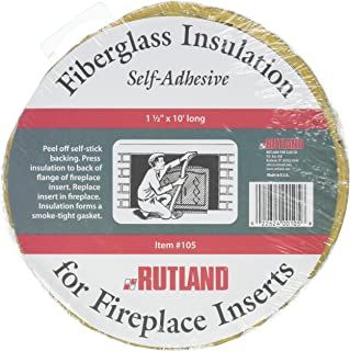 Rutland Fireplace Insert Insulation Fiberglass, 1-1/2-Inch by 10-Feet