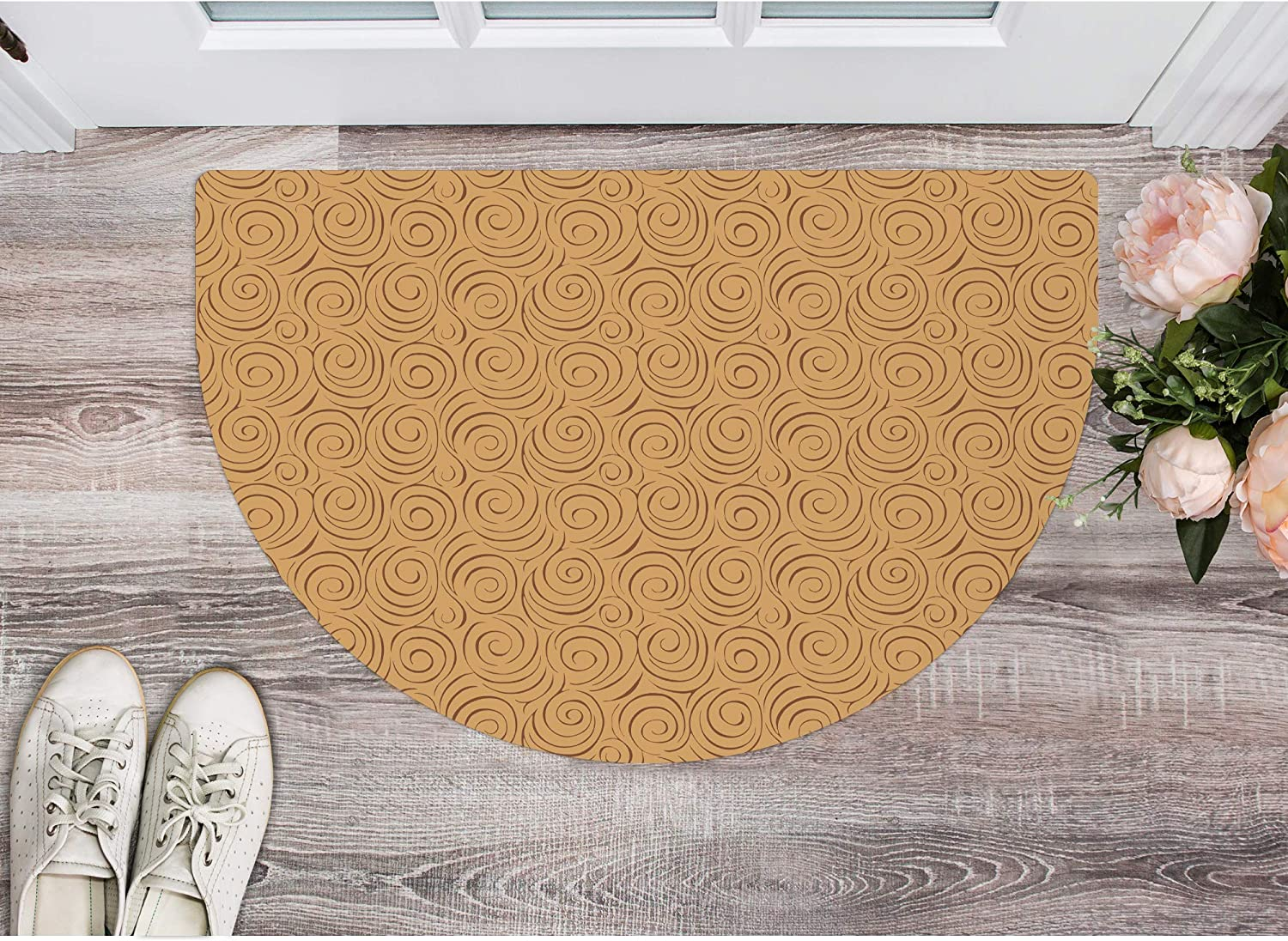 Oval Mat Ultra-Thin Kitchen Runner Rare Rug Max 43% OFF Rubber Slip Non Back with