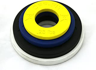 CFF Competition Rubber Fractional Weight Plates - .25 lb.5 lb, 1 lb, 1.25 lb. Pairs - 6 Lb Set - Precison Micro Loading Olympic Weights