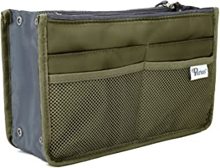 Periea Handbag Organiser - Chelsy - 28 Colours Available - Small, Medium Large (Small, Khaki)