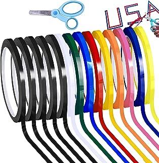 Supla 10 Colors 14 Rolls WhiteboardArt Tape 1/4