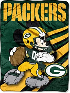 NFL Green Bay Packers Mickey Mouse Ultra Plush Micro Super Soft Raschel Throw Blanket