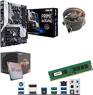 Components4All AMD Ryzen 5 1500 X 3,6 GHz (Turbo 3,7 GHz) Quad Core åtta gänga CPU, ASUS Prime X470-PRO moderkort & 4 GB 2...